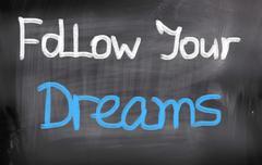 Stock Photo of follow your dreams concept