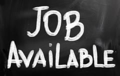 Stock Photo of job available concept
