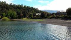 0635  Villarrica lake, Chile Stock Footage