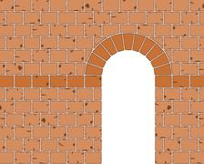 Stone Arch Entrance Stock Illustration