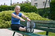 Stock Photo of elderly person practising a sport