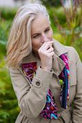 allergy, senior - stock photo