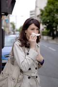 Stock Photo of allergy, woman
