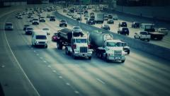 Eerie Slow Motion Traffic Stock Footage