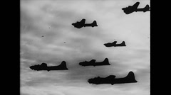 WW2 - US Air Force - Formation Flight 05 Stock Footage