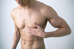 angina pectoris, man - stock photo