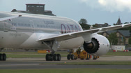 Stock Video Footage of Boeing 787 Dreamliner Being Towed