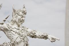 White sculpture of giant Stock Photos