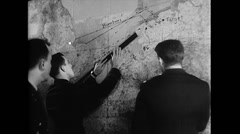 WW2 - US Air Force - Map Planning 01 Stock Footage