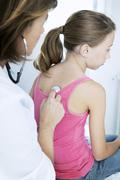 Stock Photo of auscultation, child