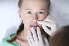 Orthodontics, child Stock Photos