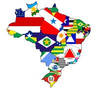 administration on map of brazil - stock illustration