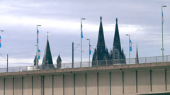 Cologne dome peaks Stock Footage