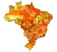 rio de janeiro state on map of brazil - stock illustration