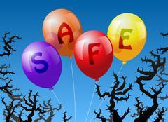 Balloons Safe Stock Illustration