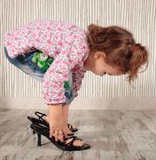 girl and heels - stock photo