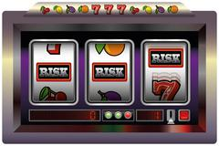 Slot Machine Risk Stock Illustration