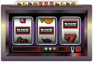 Stock Illustration of Slot Machine Risk