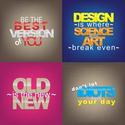 set of motivational quotes. - stock illustration