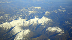 Alpes mountains, switzerland, france, italy, slovenia aerial view Stock Footage