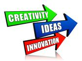 Stock Illustration of creativity, idea, innovation in arrows