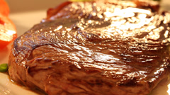 Carne vermelha - Bife Stock Footage