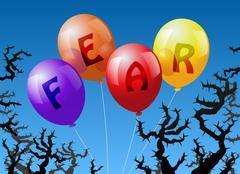 Balloons Fear Stock Illustration