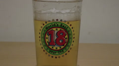 18th birthday beer, coming of age! - stock footage
