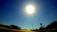 Stock Video Footage of Extremely slow motion traffic under bright noon sun