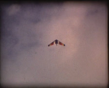 SUPER8 hang glider flying 1 - stock footage