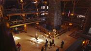 People in Yellowstone Lodge 2 Stock Footage