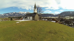 Chapel Ofterschwang Bavaria Stock Footage