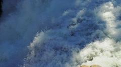 Rapids at Yellowstone Falls 1 Stock Footage