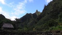 Bali Hai, early village area Stock Footage