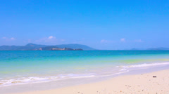 Tropical beach and white sand Stock Footage