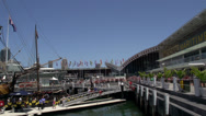 Stock Video Footage of Pan of Darling harbour national maritime museum in Sydney