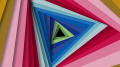 Spinning triangular shapes. Stock Footage
