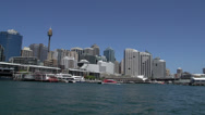 Stock Video Footage of Leaving Darling Harbour on a ferry