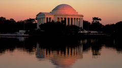 Jefferson Memorial at Dusk - stock footage