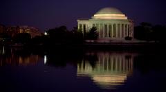 Jefferson Memorial at Night Stock Footage