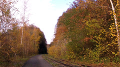 Old railway in Maredsous. Stock Footage