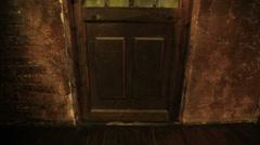 Old door close-up view. - stock footage