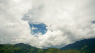 Stock Video Footage of Clouds moving over mountain peaks above the Pastaza Valley, Ecuador