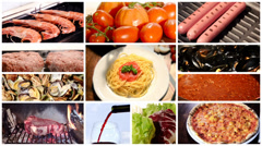 A collage of different food dishes Stock Footage