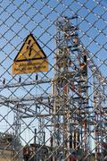 Electric central danger signal Stock Photos
