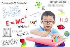 genius boy - stock illustration