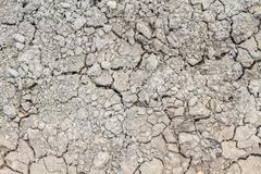 Dry and cracked soil background Stock Photos