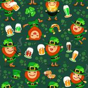 st.patrick's day's pattern - stock illustration