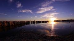 SALTON SEA PAN LAKE SUNSET MVI 0068 Stock Footage