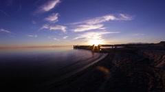 SALTON SEA SUNSET LAKE MVI 0065 - stock footage
